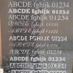 Písmo - vzory písma